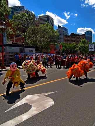 jing wo lion dance calgary 2014 chinese canada day