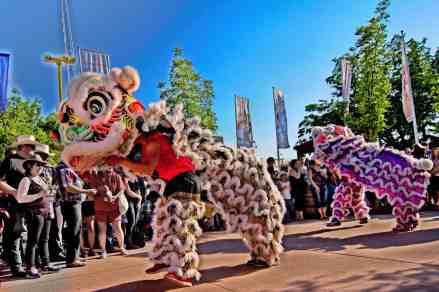 jing wo lion dance calgary 2014 chinese stampede