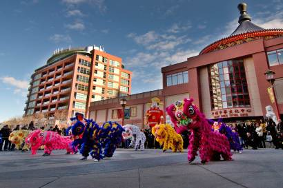 jing wo lion dance calgary 2015 chinese new year
