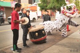 jing wo lion dance calgary 2016 chinese stampede breakfast chinatown