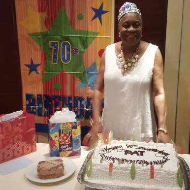 Aunt Pat at her birthday reception