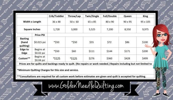 Quilting Prices - Golden Needle Quilting : quilting prices - Adamdwight.com