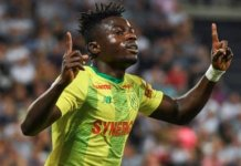 MOSES SIMON: I'm back and better with Nantes