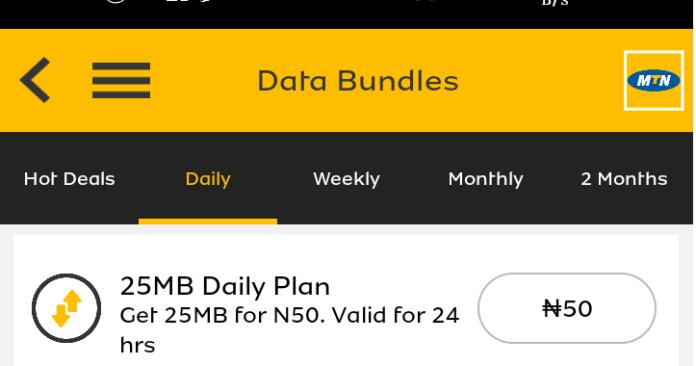 25 MB Daily plan