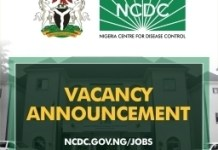 Nigeria Centre for Disease Control (NCDC) recruitment