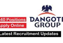 Recruitment at Dangote