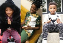 Wizkid's First Son Boluwatife Celebrates His Brother Ayo Balogun Jnr As He Turns 5yrs Today