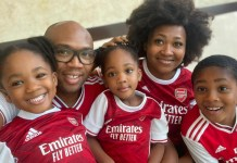 """""""You Just Subjected Those Kids To Torture"""" – Twitter Users React To Photo Of Kids Wearing Arsenal Jersey (Photos)"""