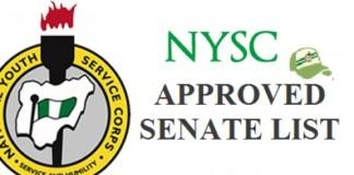 NYSC Senate List 2021