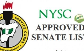NYSC Update: NYSC Senate List 2021 – Batch A, B & C