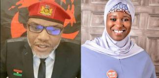 Aisha Blast Buhari Over Rearrest of Nnamdi Kanu