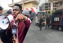 BREAKING: Police Arrest Mr Macaroni At #Occupylekki Protest (Video)