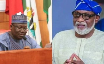 War of words as Akeredolu blasts Lawan over statement on ethnic crisis in southwest