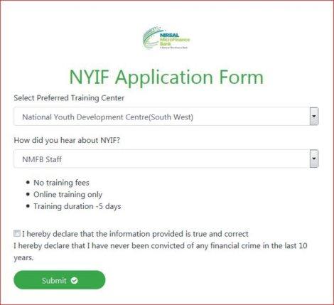 Open nyif application form