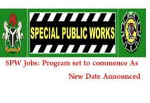 NDE SPW 774,000 Jobs: SPW Stipends Updates (APRIL)