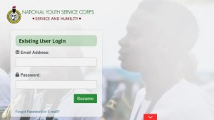 Online NYSC PORTAL Login Dashboard 2021 June
