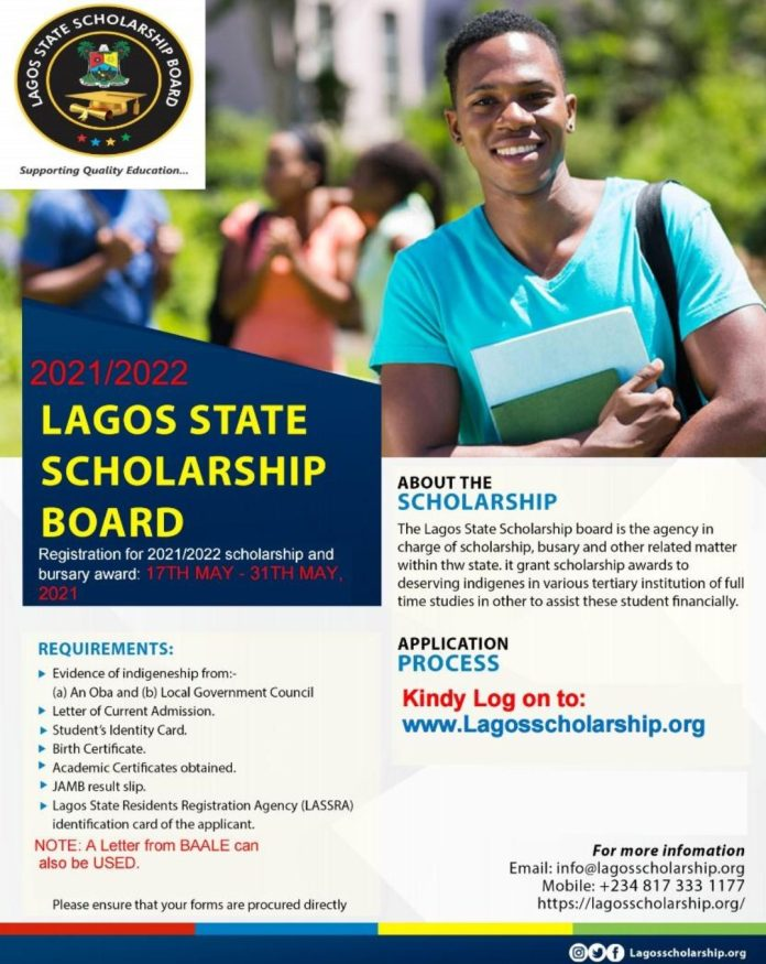 How to Apply for Lagos State Scholarship and Bursary Award 2021/2022