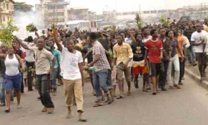 BREAKING: Protest Rocks Ibadan Over Sunday Igboho Arrest In Benin Republic