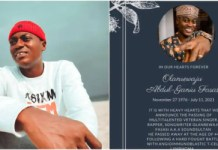 Family of Sound Sultan officially announce his death -reveal cause Sound Sultan's death