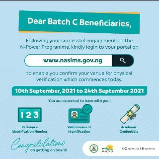 Closing date For Npower Batch C Physical Verification