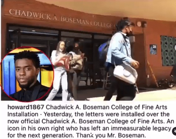 Howard University officially renames college after late alumnus Chadwick Boseman