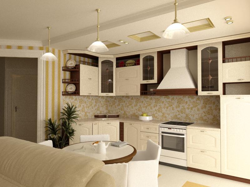 комната студия с кухней фото дизайн 20 квадратов 2