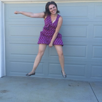 Trying out my gymnast moves