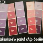 Valentine's paint chip bookmarks