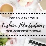 How to make your fashion illustrations look more professional- free printable curvy croquis