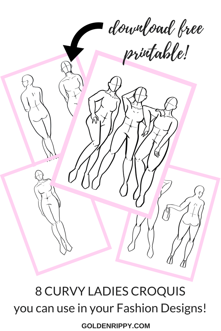 image about Printable Fashion Croquis named How toward create your model examples feel additional
