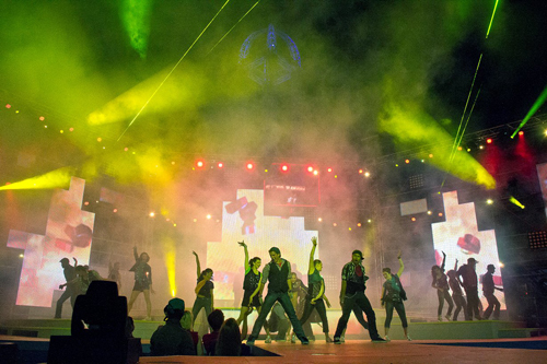 This season, Cedar Point debuted Luminosity, as the park's new nighttime show. The $1 million-plus production is the largest in park history. It was built and produced by N.Y.-based RWS and Associates Entertainment, Inc. COURTESY CEDAR POINT