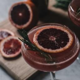 Rosemary Infused Blood Orange Martini