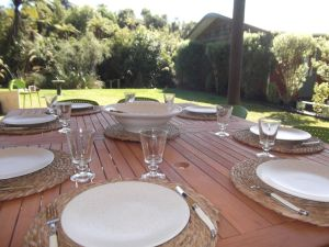 hosted evening meals in our outdoor kitchen