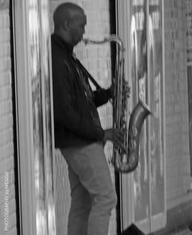 T-bana saxofonist