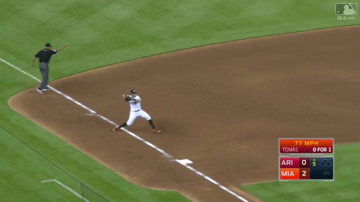 Dietrich's backhanded play