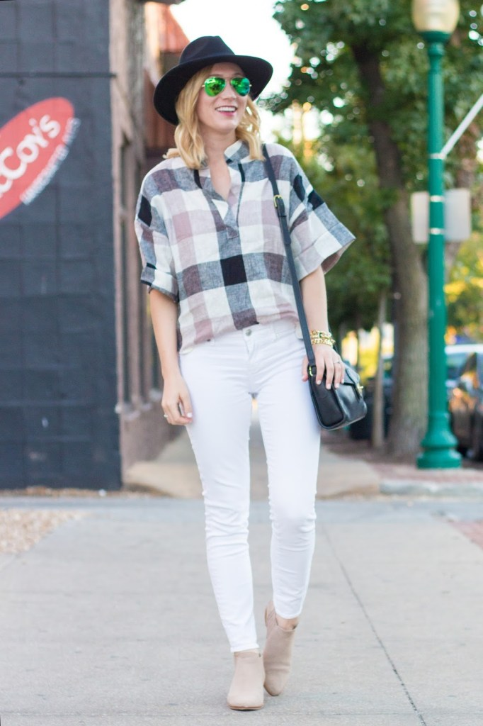 HOW TO TRANSITION WHITE JEANS TO FALL.