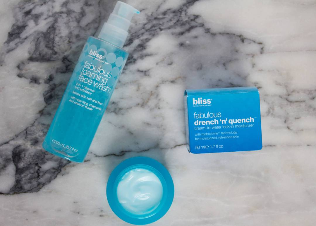winter skincare bliss cosmetics drench n quench and fabulous foaming facewash, bliss cosmetics fabulous foaming face wash review