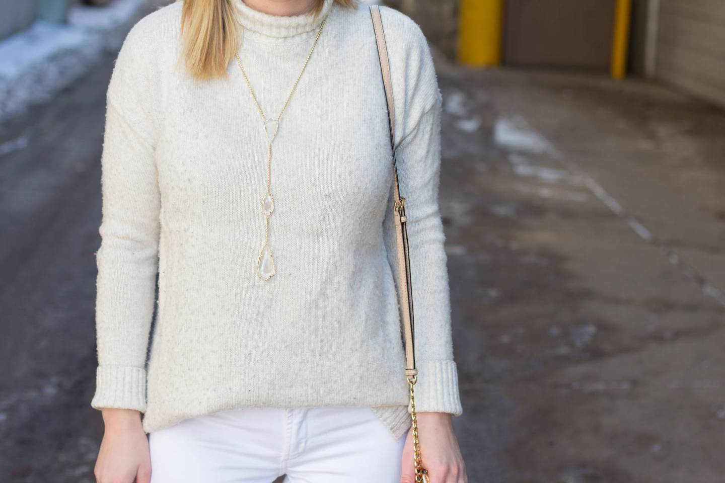 Kendra Scott Charlotte Necklace in Suspended Ivory Pearl