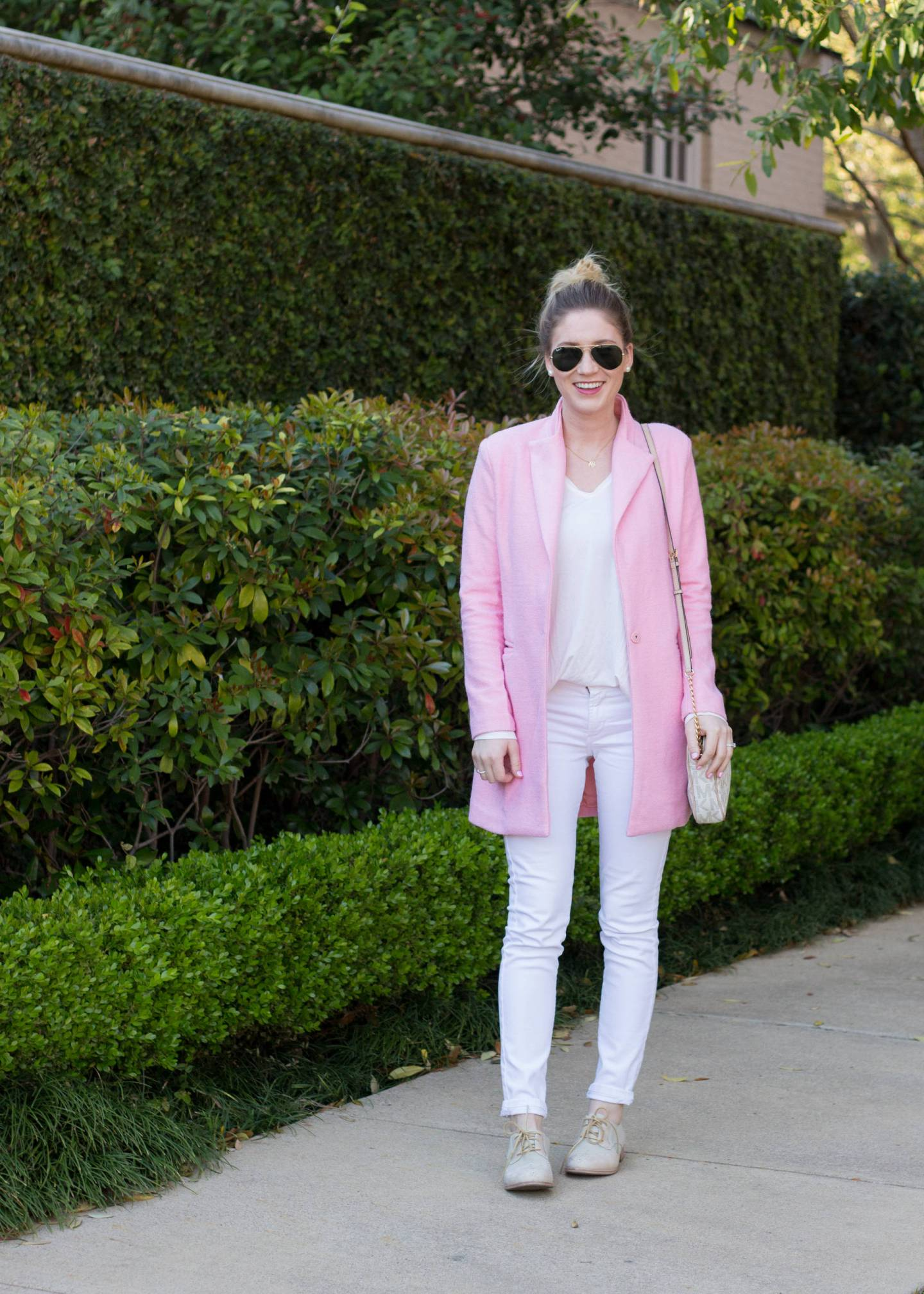 Pink Spring Coat | Gold-Hatted Lover