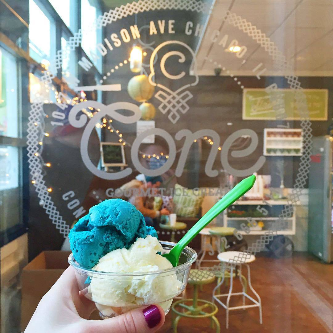 Cone Chicago Cookie Monster