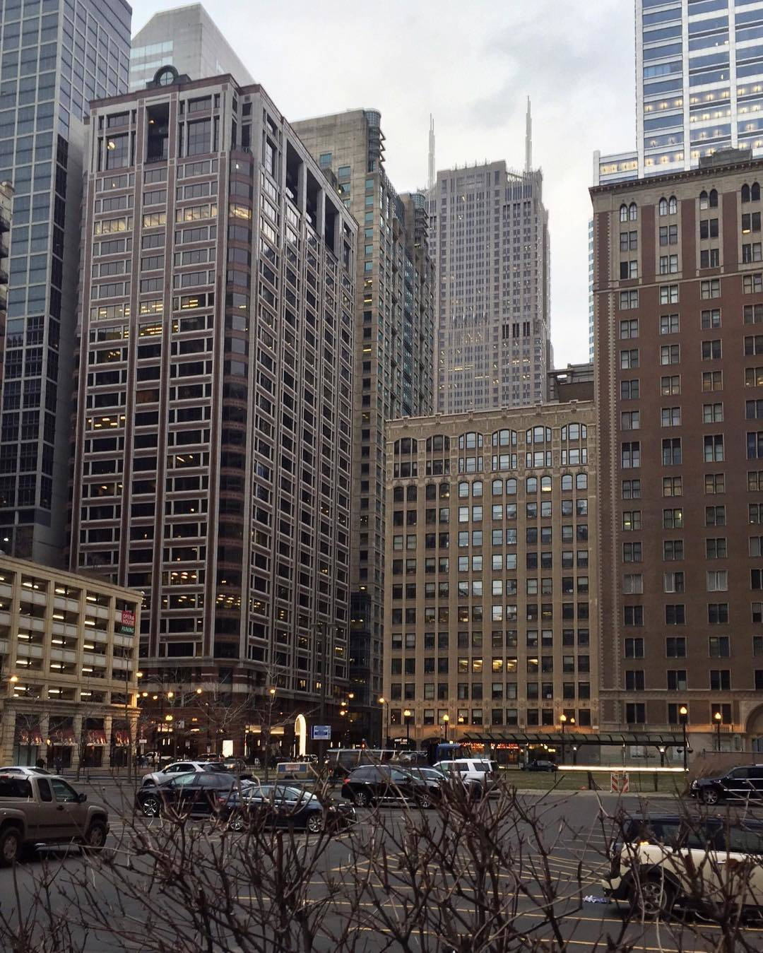 Overcast Morning in The Loop Chicago