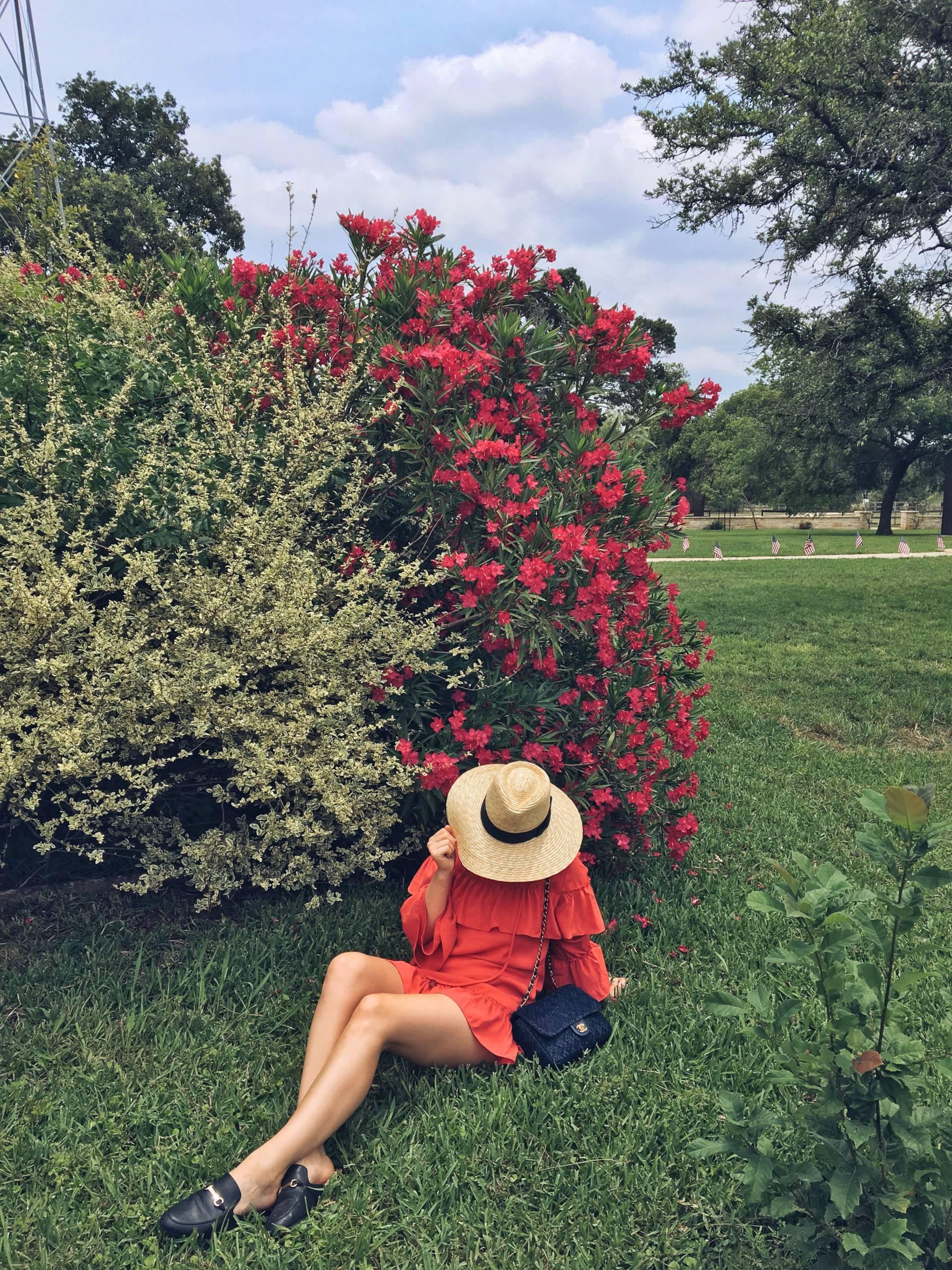 Cara Loren Shop Rosie Ruffled Dress Becker Vineyards Hill Country Texas