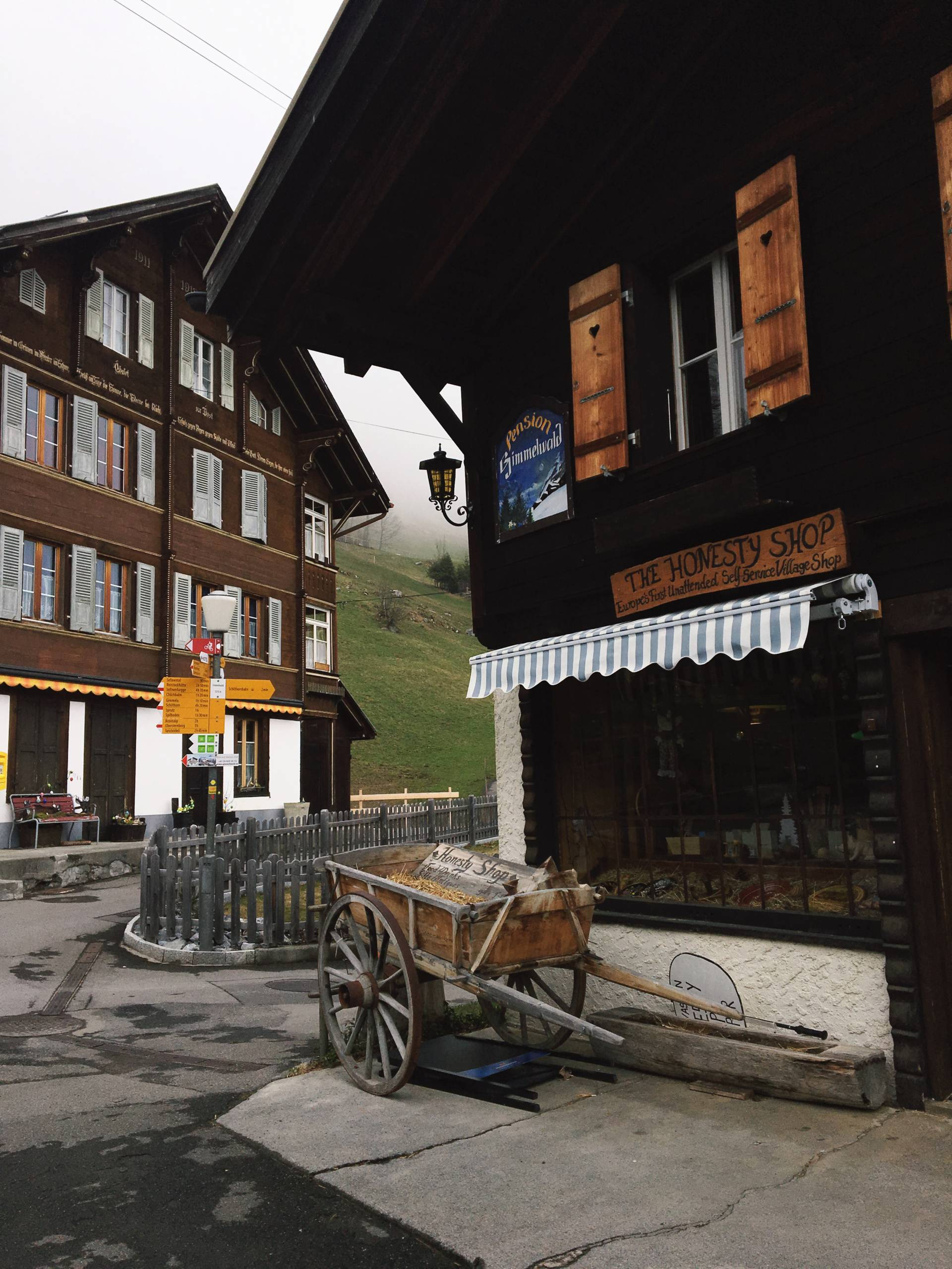 The Honesty Shop in Gimmelwald Switzerland