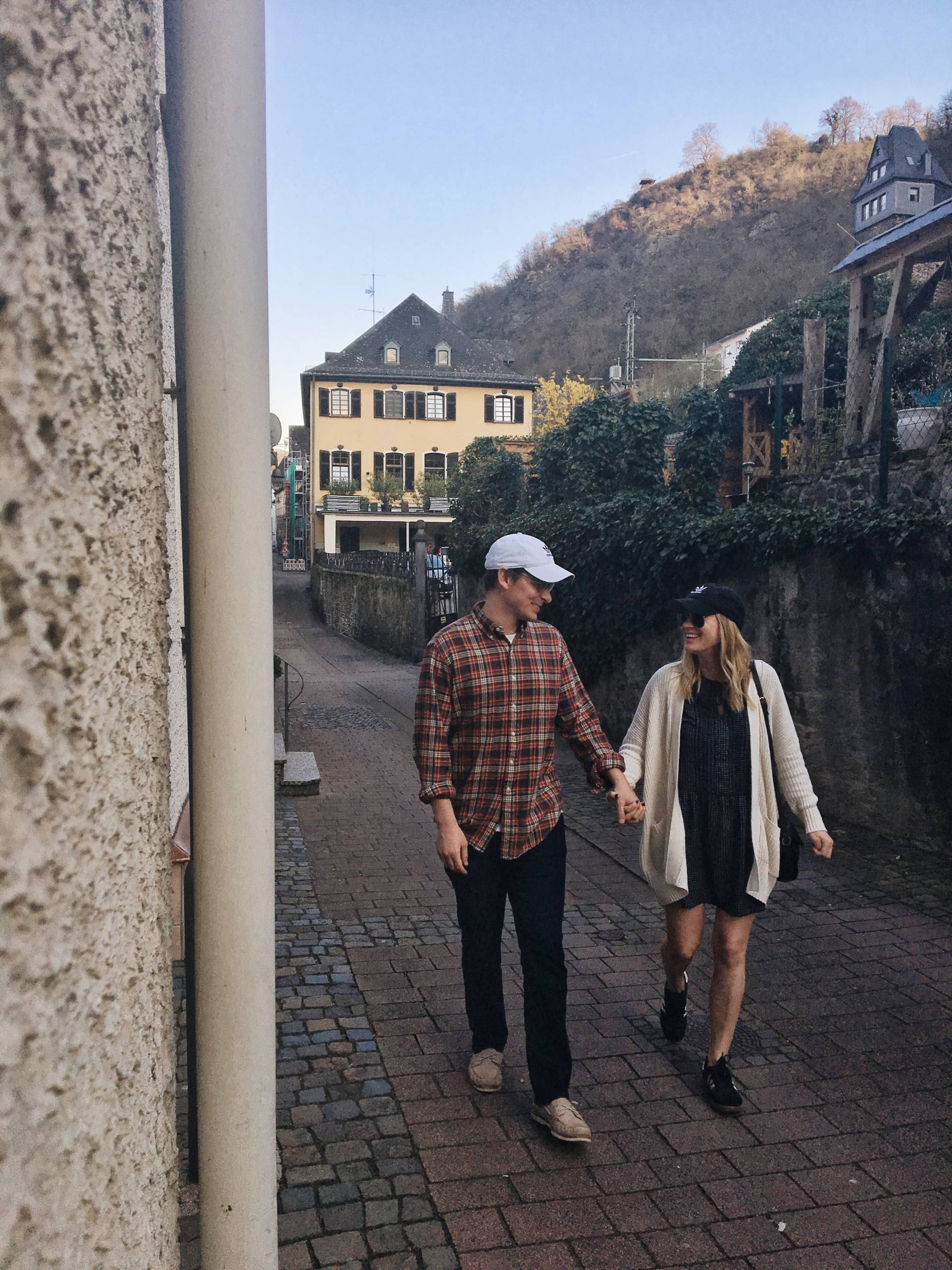 Couple Travel in Bacharach Germany