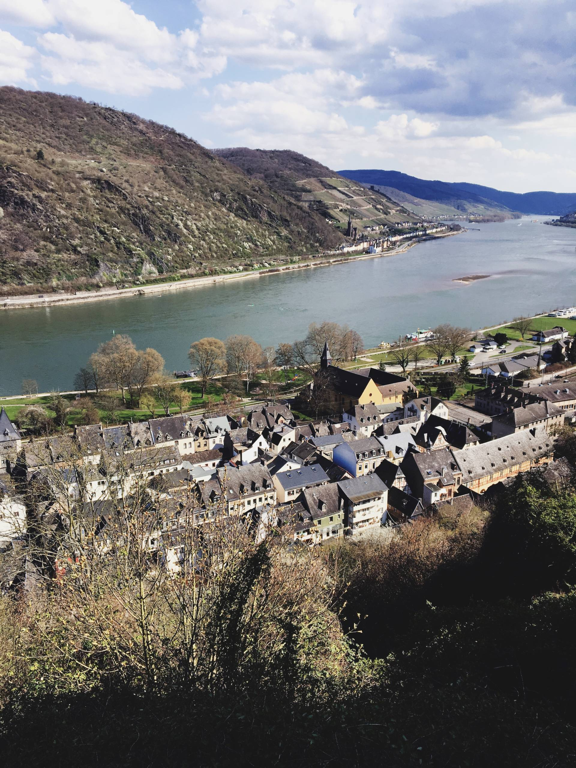 Overlooking the Rhine River Valley Germany