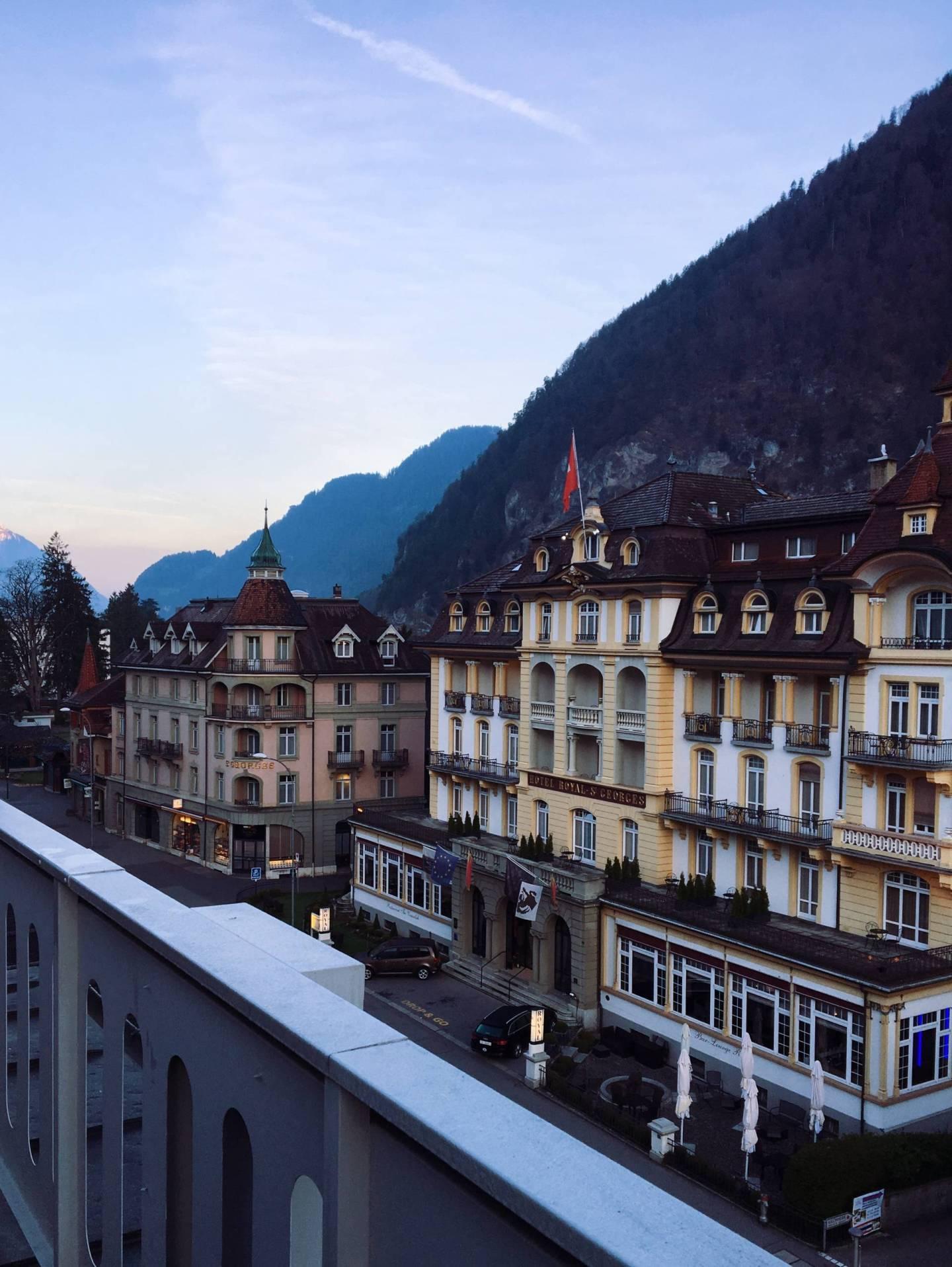 Waking up at Hotel Interlaken