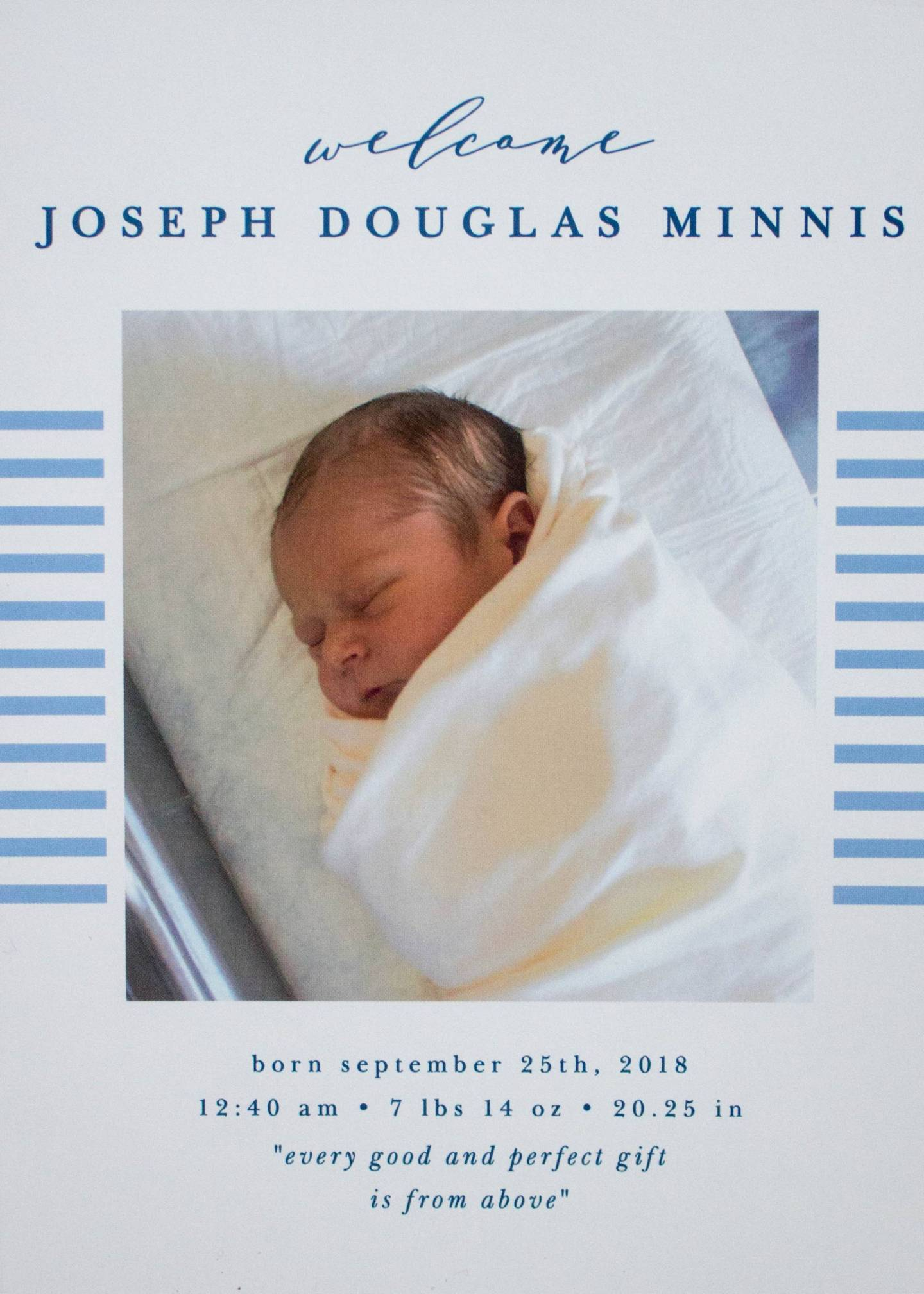 Basic Invite Lovely Lines Birth Announcement