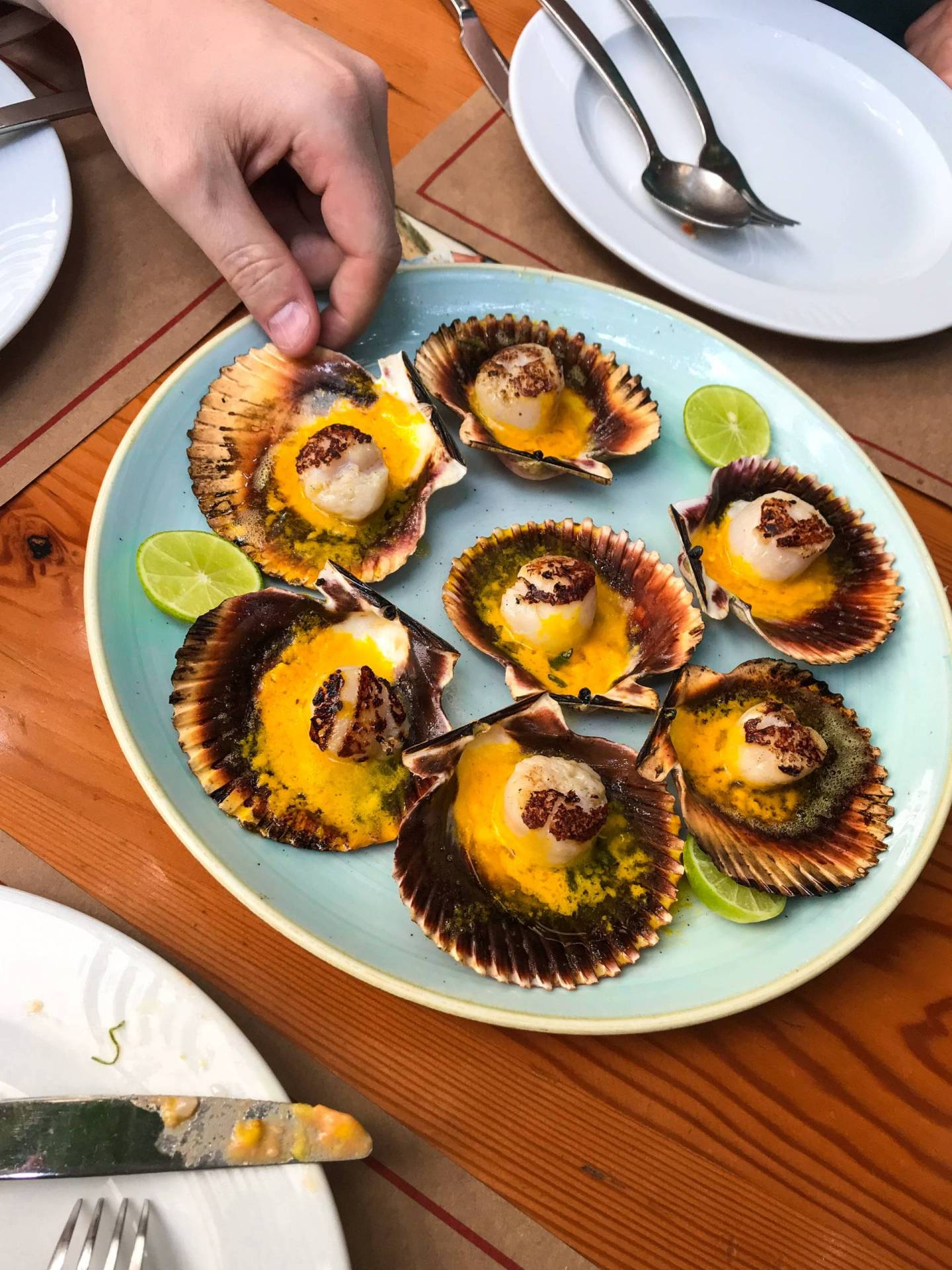 Scallops at El Mercado in Lima Peru
