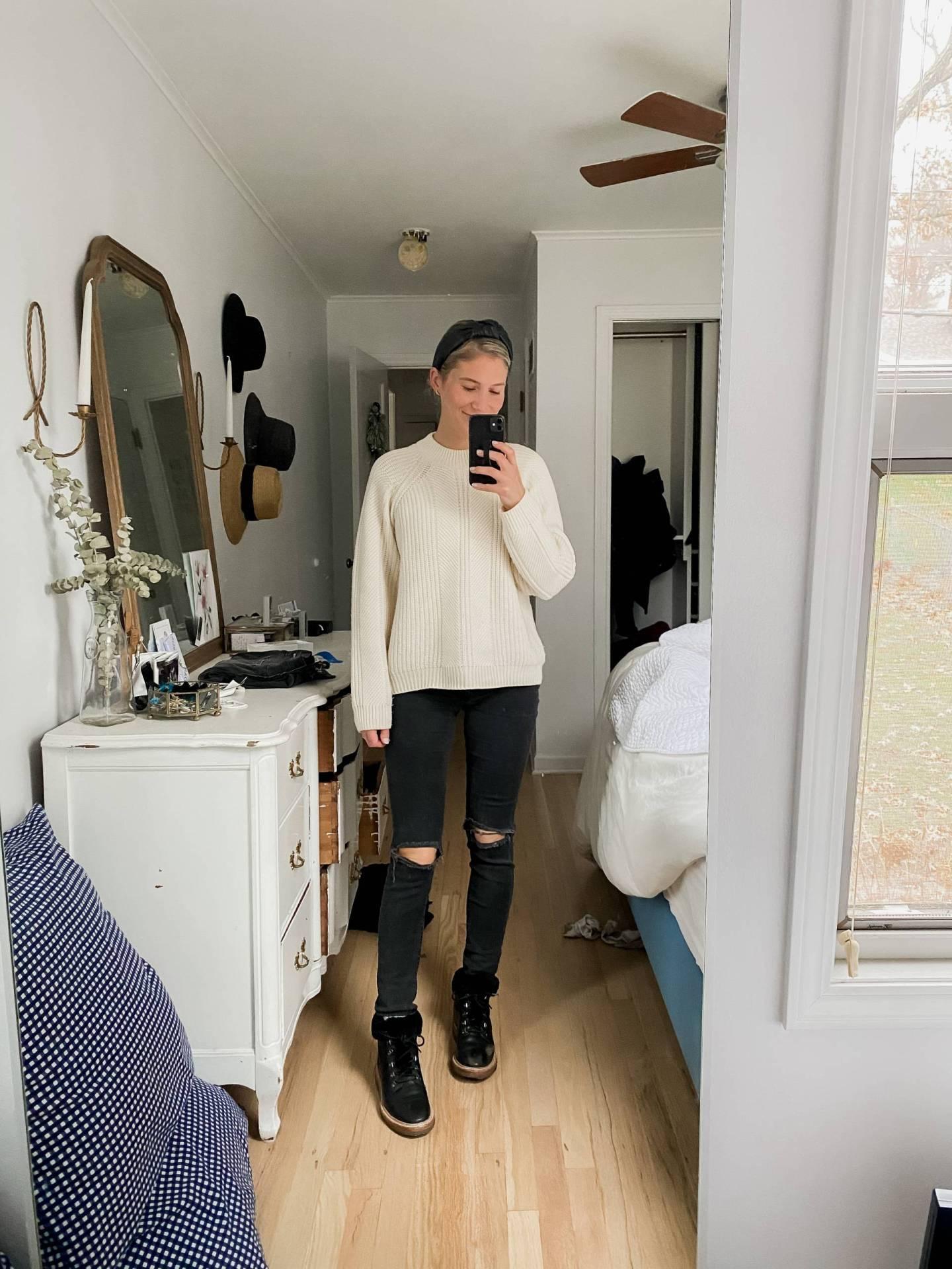 Naadam Textured Crewneck Sweater Review