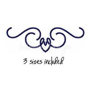 Scroll motif fancy embroidery design